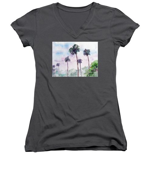 Swaying Palms Women's V-Neck