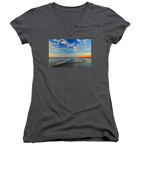 Sweeping Ocean View Women's V-Neck (Athletic Fit)