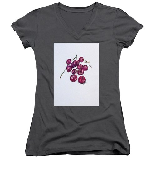 Sweet Cherry Women's V-Neck