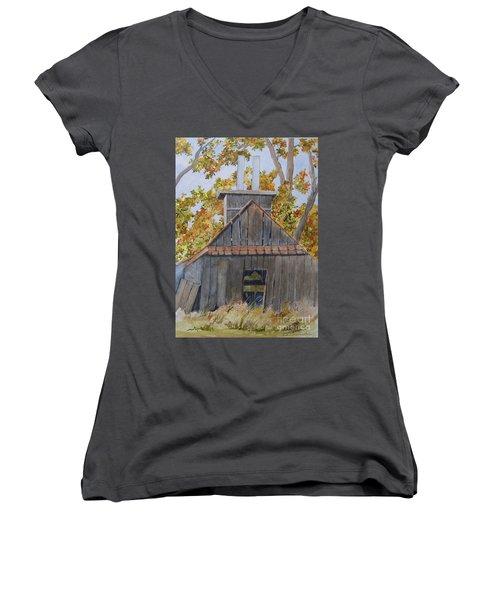 Sweet Old Vermont Women's V-Neck T-Shirt (Junior Cut) by Jackie Mueller-Jones