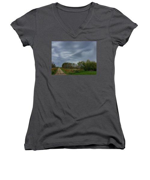 Swirel Women's V-Neck T-Shirt