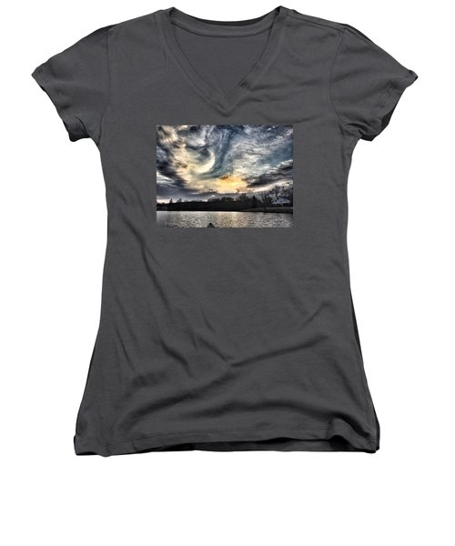 Swirl Sky Sunset Women's V-Neck