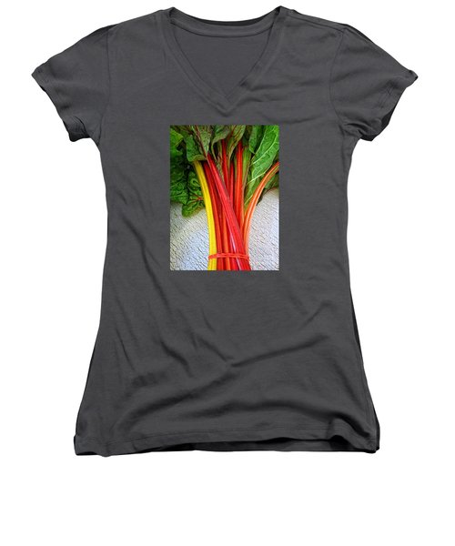 Swiss Chard Women's V-Neck (Athletic Fit)