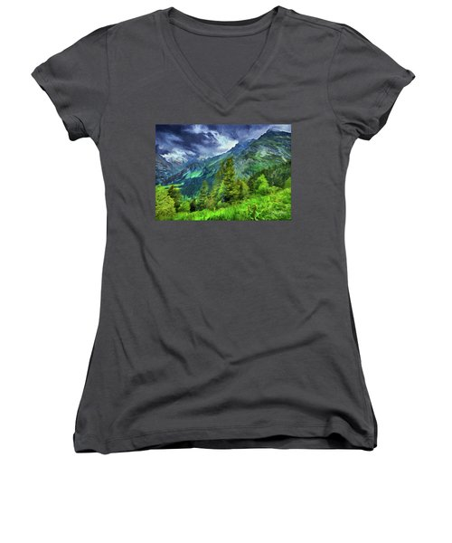Swiss Countryside Women's V-Neck (Athletic Fit)
