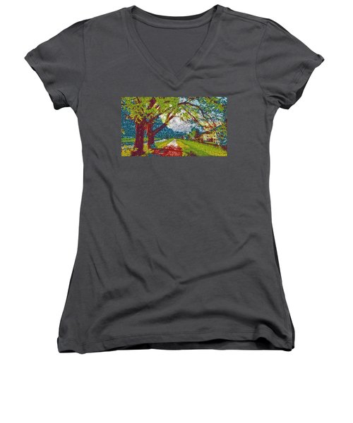 Swiss Village Stroll Women's V-Neck