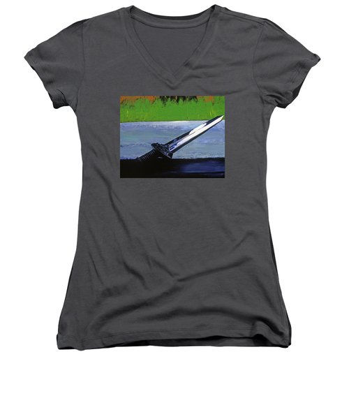 Sword Of Protection  Women's V-Neck T-Shirt