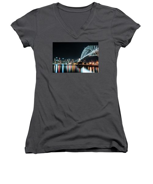Sydney Harbour Sparkle Women's V-Neck (Athletic Fit)