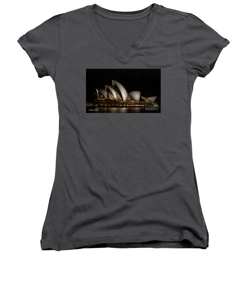 Sydney Opera House Women's V-Neck (Athletic Fit)