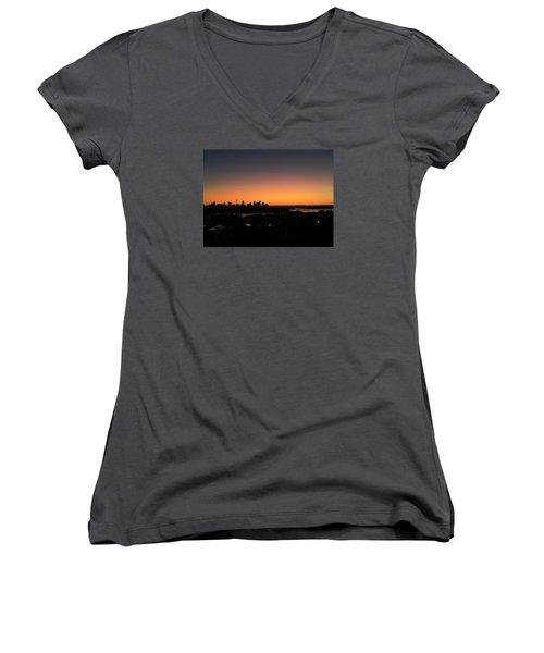 Sydney Skyline Women's V-Neck T-Shirt (Junior Cut) by Scarlett Bieri
