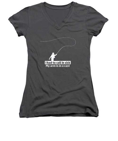 T Had To Call Stick Women's V-Neck T-Shirt