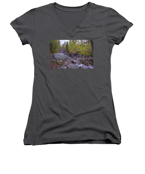 Taggert Creek Waterfall Women's V-Neck (Athletic Fit)