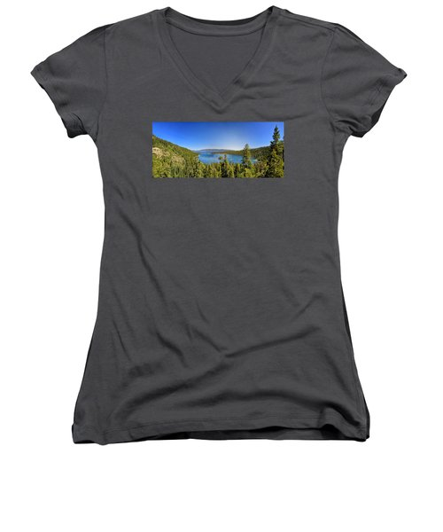 Tahoe Moutain View Women's V-Neck T-Shirt