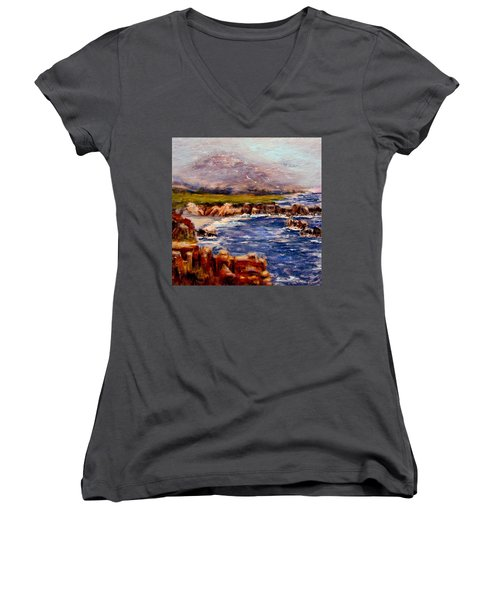 Take Me To The Ocean,, Women's V-Neck T-Shirt (Junior Cut) by Cristina Mihailescu