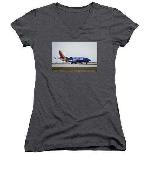 Take Off Southwest Airlines N7878a Hartsfield-jackson Atlanta International Airport Art Women's V-Neck