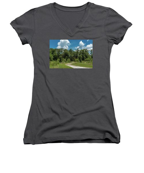 Take The Path Less Traveled Women's V-Neck (Athletic Fit)