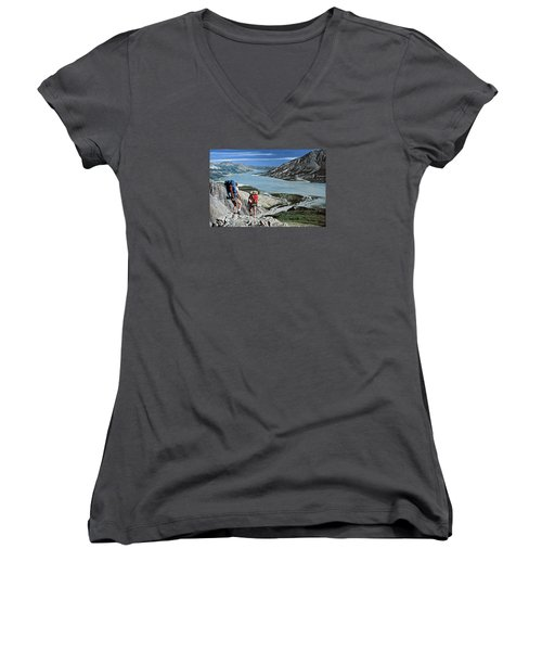 Take This View And Love It Women's V-Neck