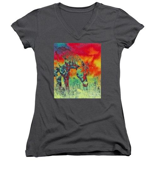Taking Time Women's V-Neck T-Shirt
