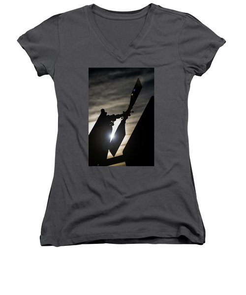 Tale Sun Women's V-Neck T-Shirt (Junior Cut) by Paul Job