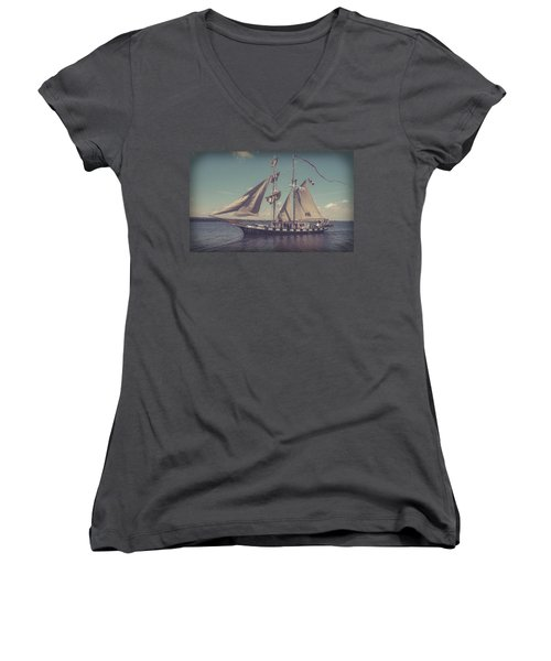 Tall Ship - 4 Women's V-Neck