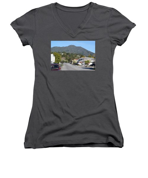 Tamalpais From Mill Valley Women's V-Neck