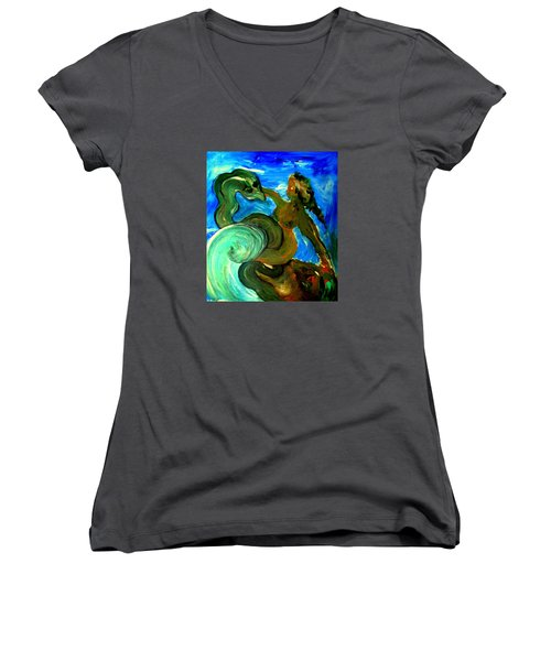 Taming Your Dragon Women's V-Neck (Athletic Fit)