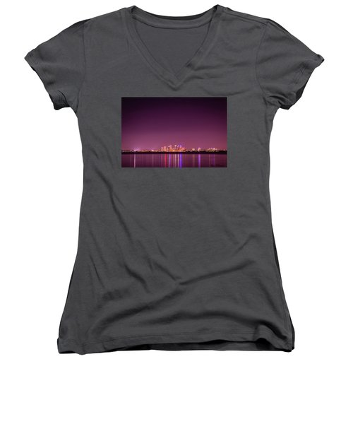 Tampa Bay Skyline Women's V-Neck (Athletic Fit)