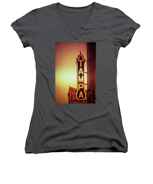 Tampa Theatre Women's V-Neck (Athletic Fit)