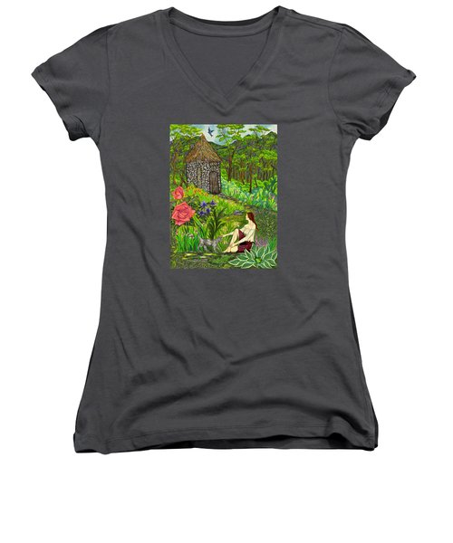 Tansel's Garden Women's V-Neck