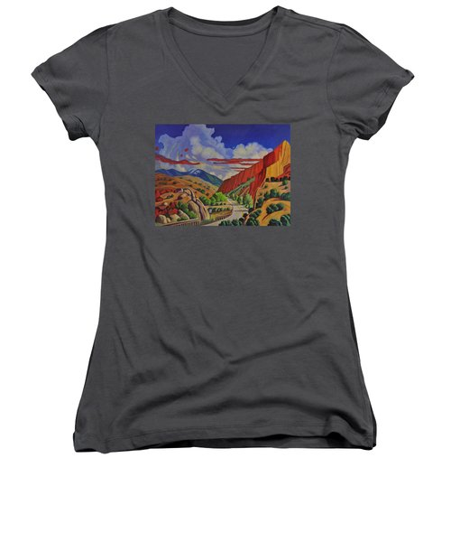 Taos Gorge Journey Women's V-Neck