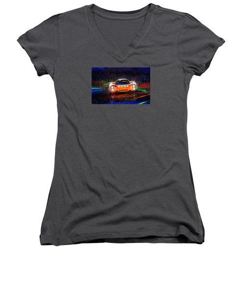Targa Tempest Women's V-Neck T-Shirt (Junior Cut) by Alan Greene