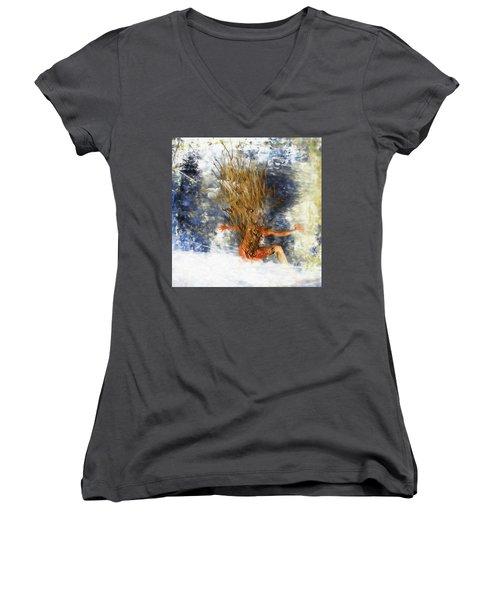 Tatoo Bird Women's V-Neck T-Shirt