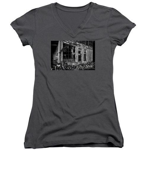 Tattered Women's V-Neck T-Shirt