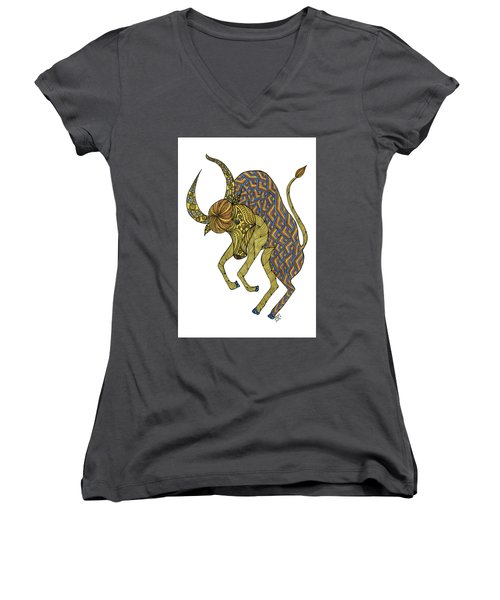 Taurus Women's V-Neck (Athletic Fit)
