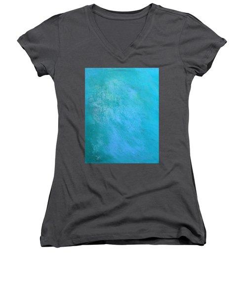 Teal Women's V-Neck T-Shirt (Junior Cut) by Antonio Romero