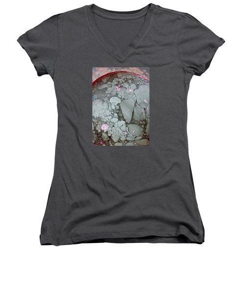 Tectonic With Sky Above And Below Women's V-Neck