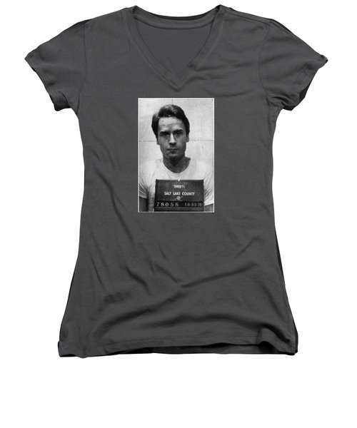 Ted Bundy Mug Shot 1975 Vertical  Women's V-Neck