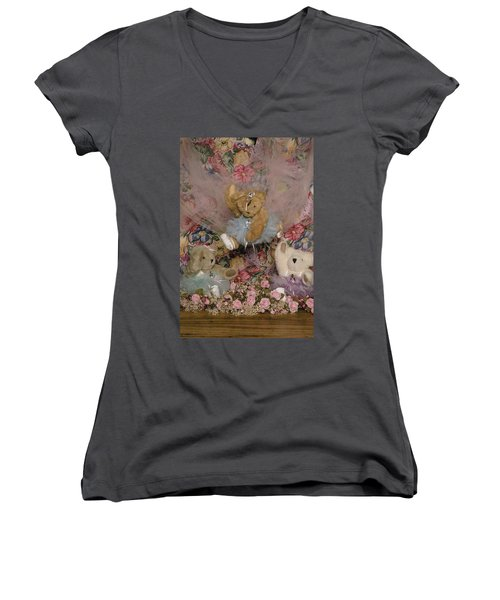 Teddy Bear Dancers Women's V-Neck (Athletic Fit)