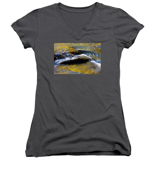 Women's V-Neck T-Shirt (Junior Cut) featuring the photograph Tellico River - D010004 by Daniel Dempster