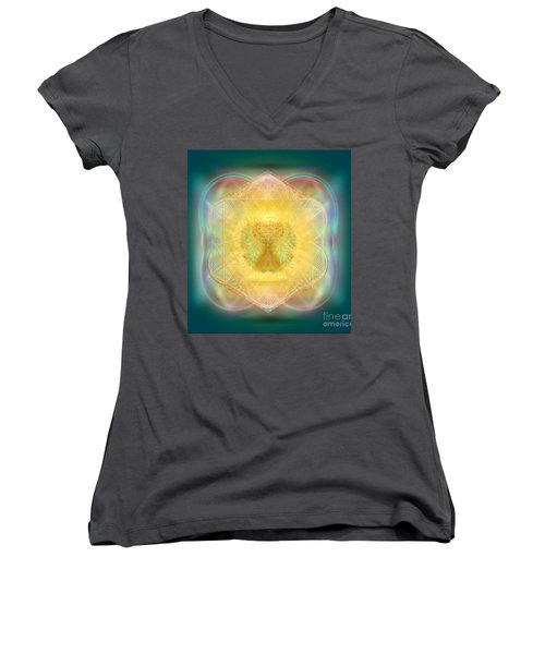 Temple Fire Chalice Women's V-Neck (Athletic Fit)