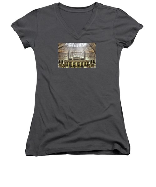 Temple Washroom Women's V-Neck T-Shirt