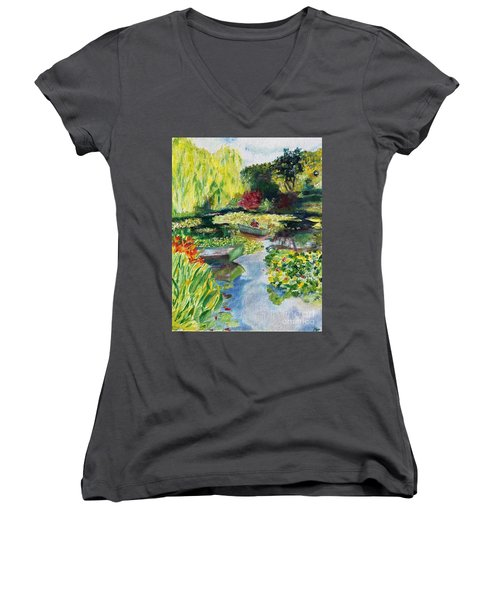Tending The Pond Women's V-Neck