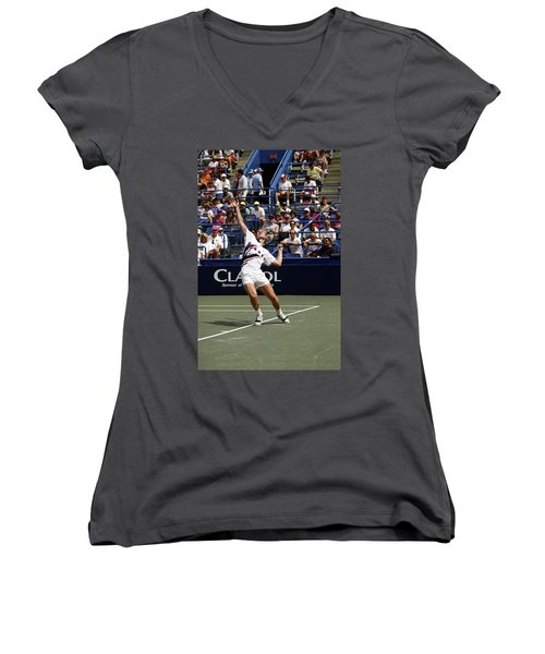 Tennis Serve Women's V-Neck T-Shirt