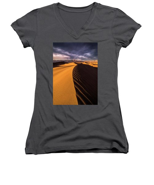 Terminus Awaits Women's V-Neck T-Shirt (Junior Cut) by Bjorn Burton