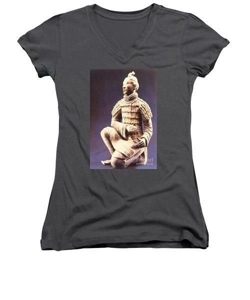 Terracotta Soldier Women's V-Neck