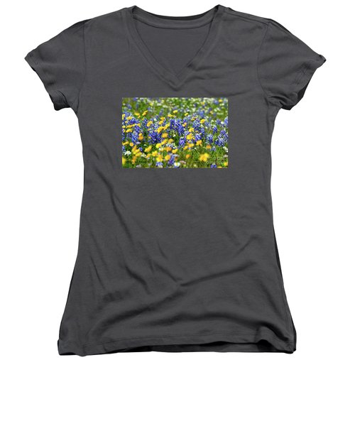 Texas Blue Bonnet  Women's V-Neck