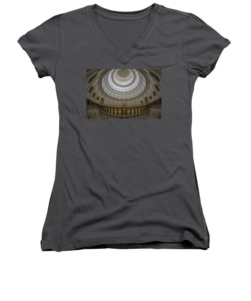 Texas Capitol Dome Wide Angle Women's V-Neck