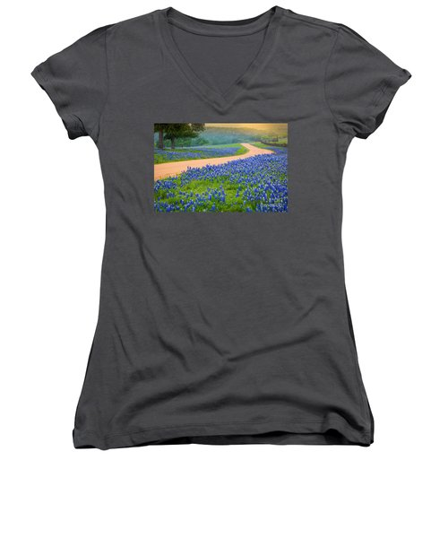 Texas Country Road Women's V-Neck