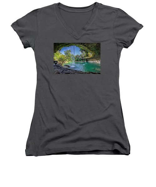 Texas Paradise Women's V-Neck (Athletic Fit)