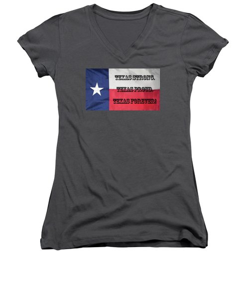 Texas Strong Women's V-Neck (Athletic Fit)
