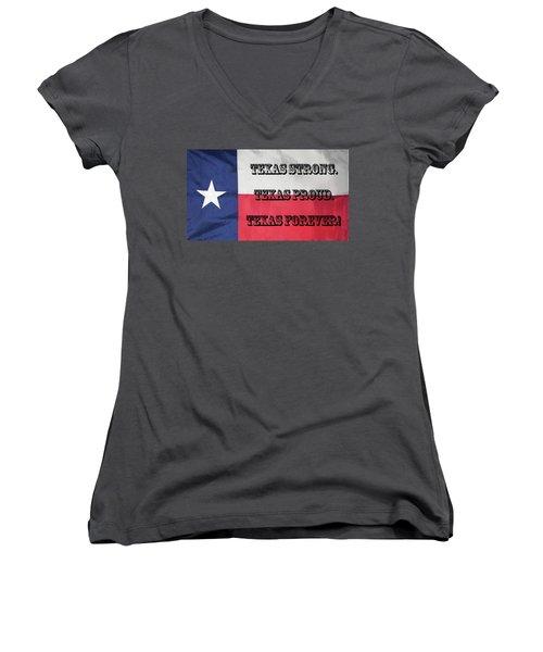 Texas Strong Women's V-Neck